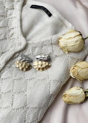 Серьги, сережки, кульчики, серьги неправильной формы, комбинир...