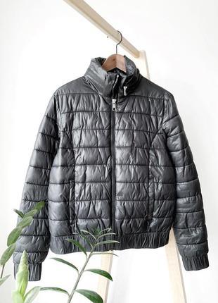 Чорная дутая куртка coolcat