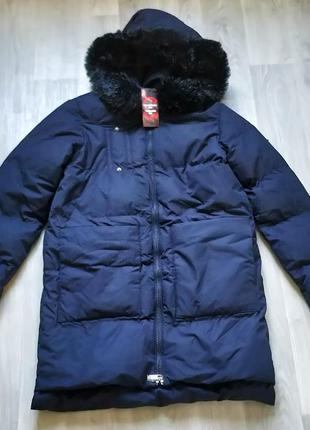 Новая женская чёрная тёплая куртка пальто с капюшоном new yorker