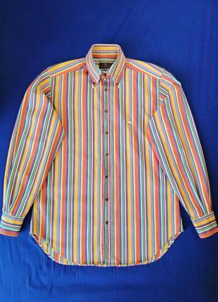 Рубашка etro с длинным рукавом в разноцветную полоску, сделано...