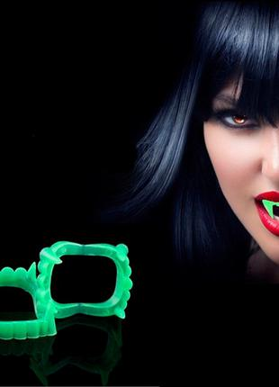 Зубы вампира на Хэллоуин форсорные, многоразовые клыки как у в...