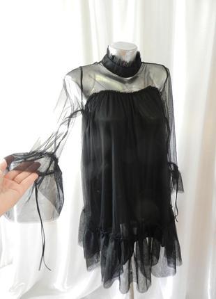 Платье сетка рюши воланы