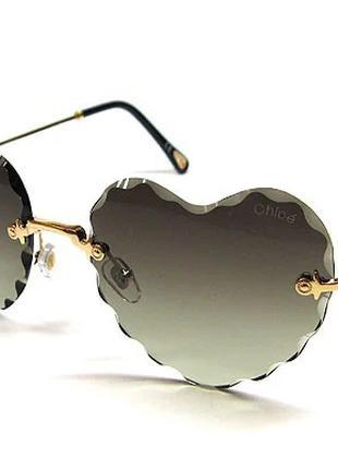 Очки солнцезащитные в форме Сердца Chloe 5503 сн3