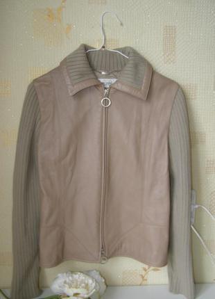 Laurel куртка натуральная кожа-шерсть m-l -размер