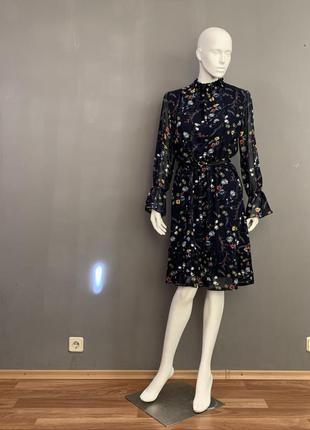 Стильное платье из креп шифона season в цветочек