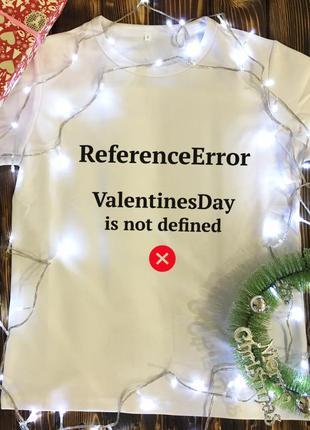 Мужская футболка с принтом - error.valentinesday