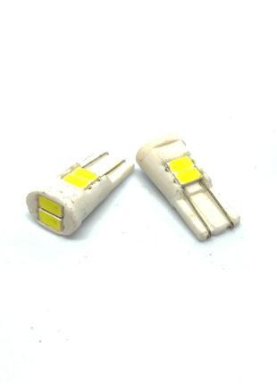 Автолампа светодиодная T10-W5W-6SMD5630-Керамика 12V