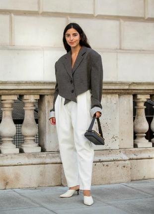 Льняные женские белые брюки