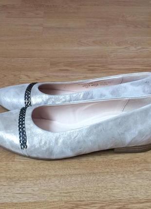 Кожаные туфли gabor германия 37,5 размера в состоянии новых