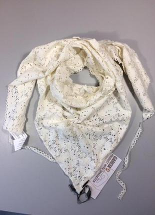 Шарф женский белый косынка жіночий подарок женщине девушке бренд