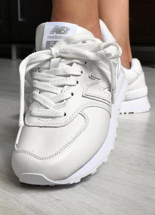 Шикарные кроссовки new balance 574 white