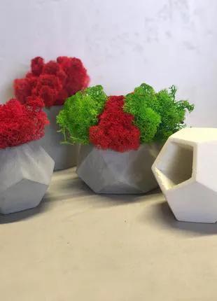 Вазоны для цветов,кашпо из бетона.