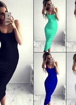 Платье майка, длина 110см, ниже колена.