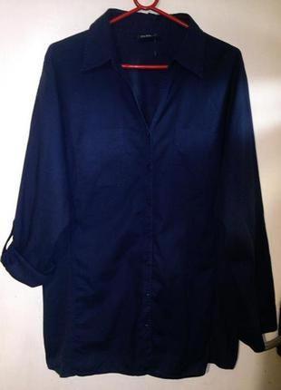 100%хлопок,блуза,рубашка с 2-мя пол.рукава и трикотаж.вставкам...