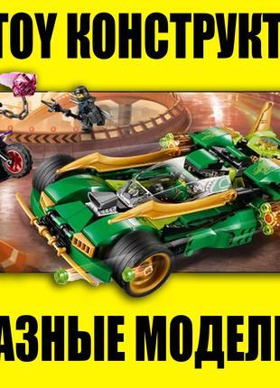 JvToy детский конструктор 300+ деталей, гонки, спасатели, ниндзя,