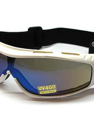 Очки маска для сноуборда горнолыжные Nice Face 005 w-н