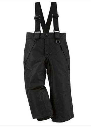 Теплые детские термо штаны lupilu полукомбинезон