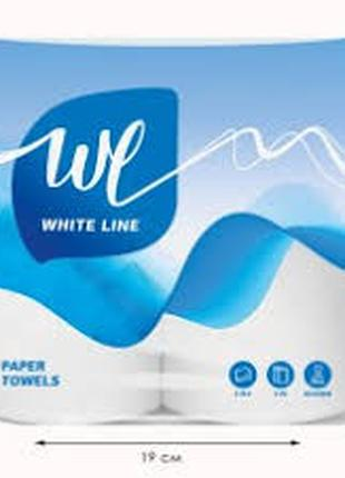 Туалетная бумага на гильзе 15 м White Line (TP010)