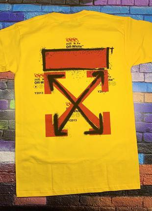 Футболка off white• жёлтая футболка офф вайт • ориг бирки