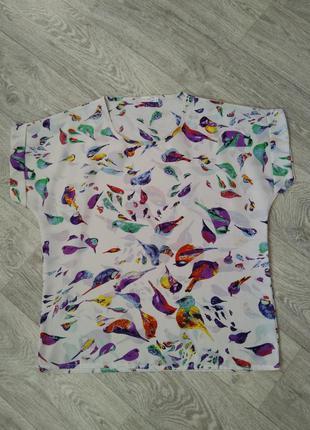 Блузка в принт птички