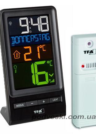 Комнатные электронные термометры, термогигрометры, метеостанции.