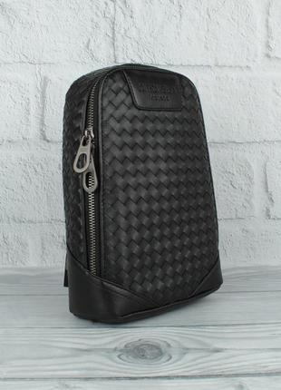Мужская кожаная сумка-слинг через плечо, рюкзак 8090-4, переплет