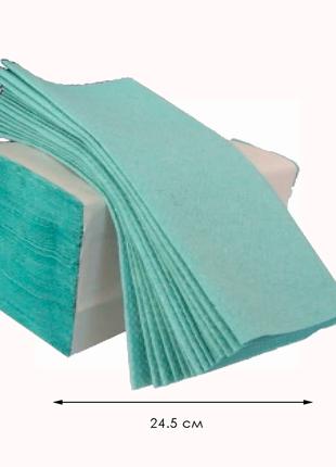 Бумажное полотенце V 160 листов ЗЕЛЕНОЕ