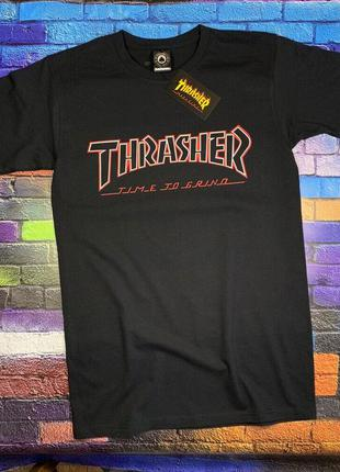 Черная футболка thrasher• ориг бирки• черная футболка трешер