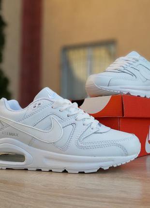 Nike air max 90 белые 3 балона шикарные женские кроссовки