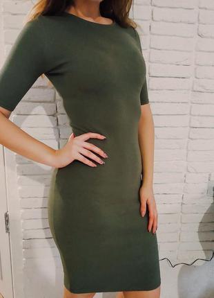 S платье миди цвета хаки