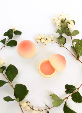 Tony moly mini peach lip balm бальзам для губ