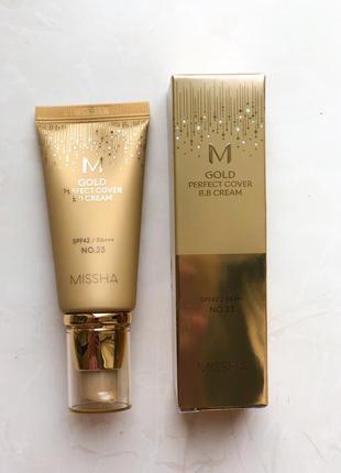 Missha m gold perfect cover bb cream матирующий вв крем