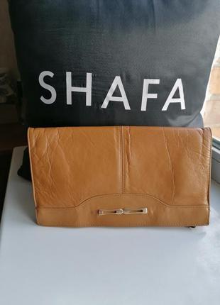 Коричневый кожаный клатч 100% натуральная кожа a brenton bag (...