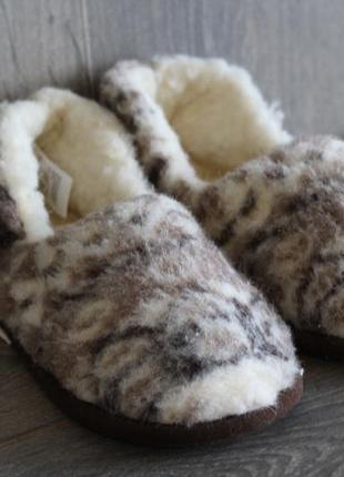 Уютные домашние тапочки, овчина. германия 38-39