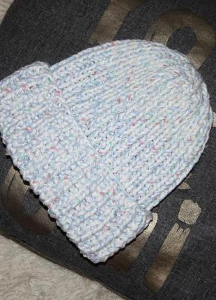 Зимняя шапка крупная вязка