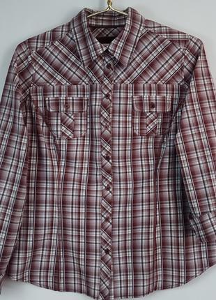 Женская рубашка в клетку gina laura