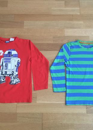 Лонгслив, футболка, реглан для мальчика 122-128 см хлопок