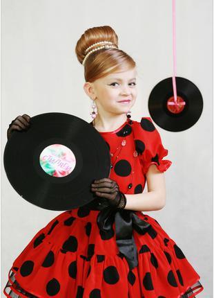 Перчатки детские сеточка ажурные сетка черные Стиляги выпускной