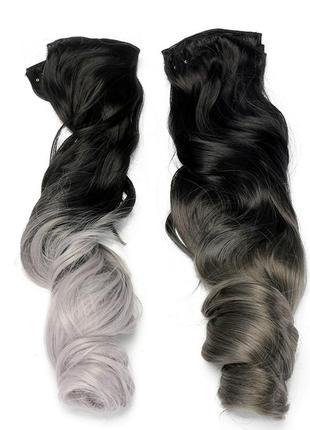Набор тресс 7шт прядей трессы пряди волосы на заколках