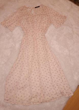 Шифоновое  платье marks & spencer
