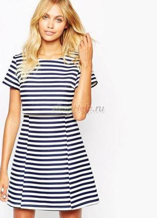 Стильное  платье в полоску fashion union