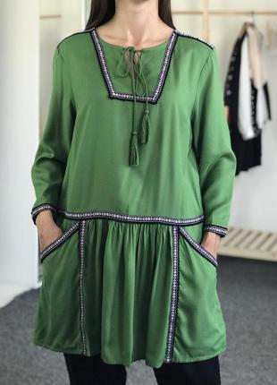 Вышиванка .платье туника с вышивкой из натуральной ткани tu