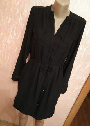 Шифоновое платье-рубашка h&m