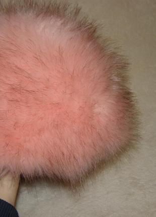 Шапка розовый мех