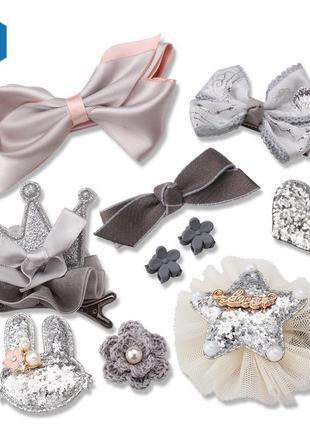 Набор заколок для девочки под любой наряд, новые, бантики, цве...