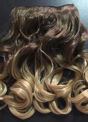 Трессы омбре пряди волосы на заколках