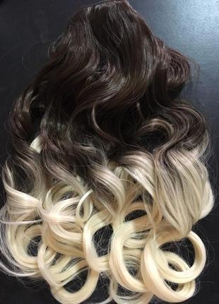 Тресса омбре пряди трессы на заколках волосы