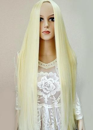 Парик без челки блонд длина 100см