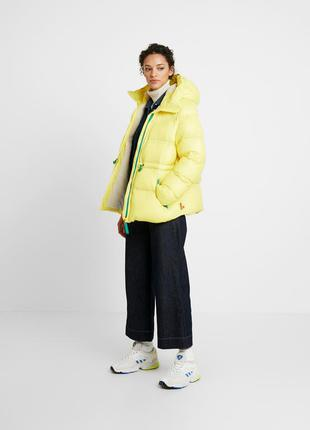 Куртка пуховик hunter жёлтая дутая оверсайз