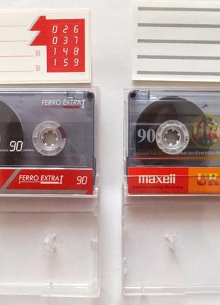 Аудиокассеты BASF и Maxell чистые под запись